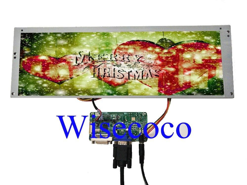 DVI VGA Placa Controladora Do LCD com 14.9 polegada 2 LTA149B780F 1280x390 20pin CCFL Backlight LCD painel de exibição de tela