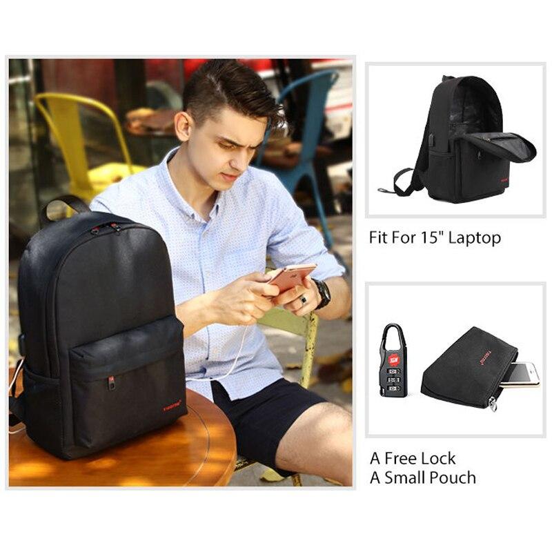 Tigernu Men Small School Backpacks Adolescence 14inch USB Laptop Backpack Women Male Mochila School Bags for Teenagers Girls Boy