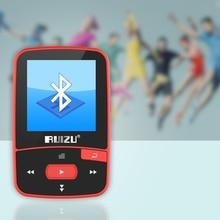 New Arrival Original RUIZU X50 Sport Bluetooth MP3 Player 8gb Clip Mini with Screen Support FM,Recording,E-Book,Clock,Pedometer