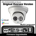 HIKVISION DS-2CD2342WD-I(2.8mm) Original English Version IP camera 4MP IPC Outdoor Dome Camera CCTV Camera H265 P2P Onvif HD HIK