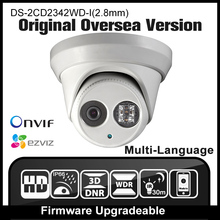 HIKVISION DS-2CD2342WD-I(2.8mm) Original English Version IP camera 4MP IPC Outdoor Dome Camera CCTV Camera H265 P2P Onvif HD