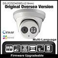 Hikvision ds-2cd2342wd-i (2.8mm) versão original em inglês 4mp câmera ip ipc p2p câmera dome ao ar livre câmera de cctv h265 onvif hd hik