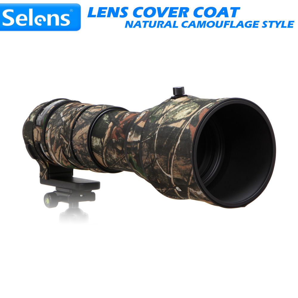Selens Natural Camouflage Lens Coat for Canon EF 70-200mm f/2.8 IS II 600mm f/4L IS Nikon 200-500mm f/5.6 VR Sigma 150-600mmC/S free shipping new origina 70 200 4l lens mount for canon 70 200mm 4l is ums bayonet 70 200 mount ring dslr camera repair part