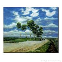Hand Painted Country Roads Oil Paintings Landscape Picture Canvas Painting On Wall Picture For Living Room Decor Hang Paintings