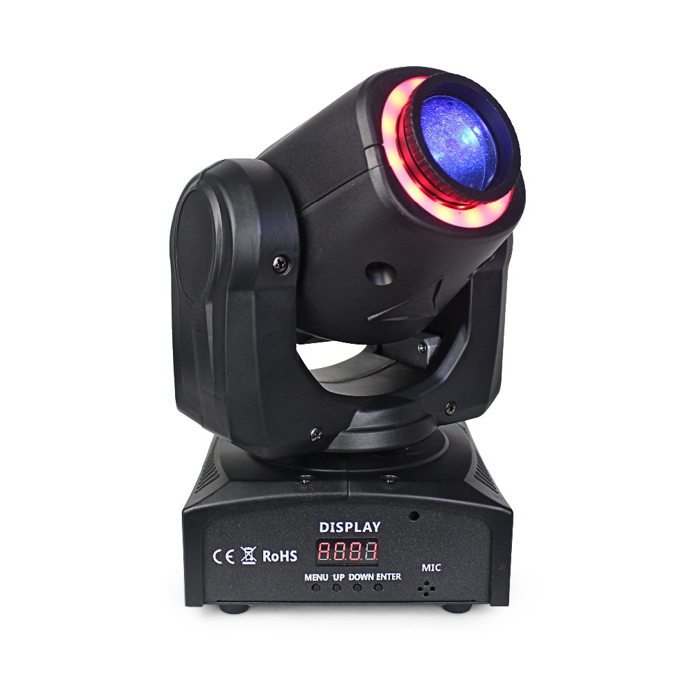 hot sale 30W mini led moving head spot stage light with led strips dmx 512 control party club disco light show equipment