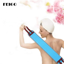 FEIGO 1Pcs Pull Back Strap Belt Towel Skin Care Body Brush Spa Exfoliating Wash Long For The Bathroom Tools F02