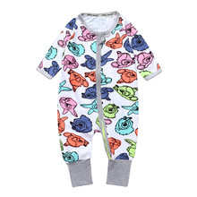 Newborn Boy Clothes for babies Toddlers Long Sleeve Floral Print Baby Girl Children's Overalls Pyjamas Kids Clothing Girl JP-092