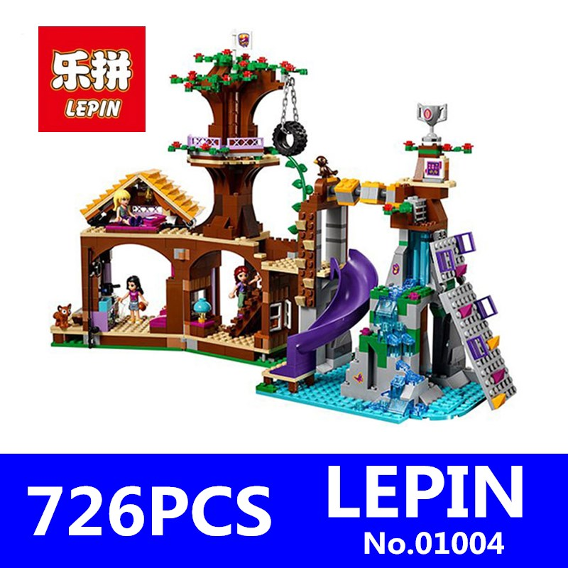 Friends Adventure Camp Tree House Building Blocks LEPIN 01004 726Pcs Kits Educational Blocks Bricks Girl Children Toys Gift $set 13pc balldrive l wr 050 thru 3 8