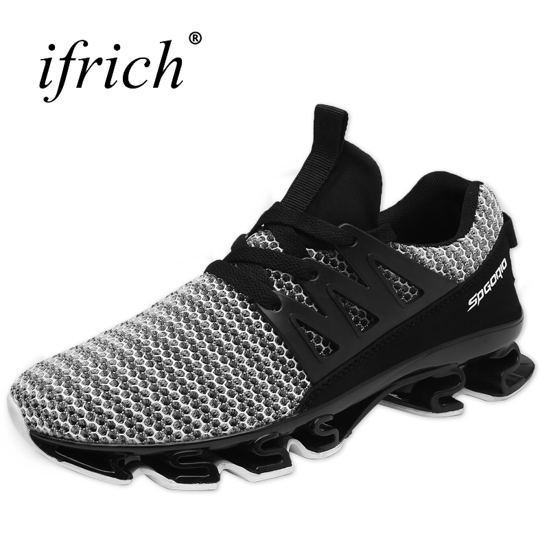 Ifrich Men Shoes Sport 2017 New Arrival Mens Running Sneakers Top Quality Mens Running Shoes Breathable Running Shoes Sneakers