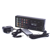 New Multi-Functional HDMI Switch Converter HDMI Audio Extractor with 8 Inputs to 1 HDMI Output with Optical / Coaxial 5.1 Ch