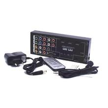Novo Multi-Funcional Switch HDMI Conversor HDMI Extrator De Áudio com 8 entradas para 1 HDMI com Saída Óptica/Coaxial 5.1 Ch