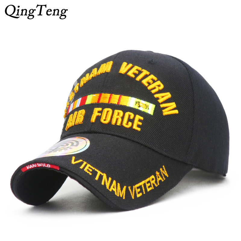 3694f82688e Embroidered Letters VIETNAM VETERAN Baseball Caps For Men Air Force  Tactical Baseball Hat Outdoor Arm Caps