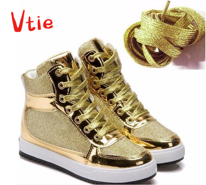 Fashion 110 CM Women Silver Golden Shoelaces, Super Long Growing Canvas Strings Flat Rope Laces, Daily Party Camping Shoelaces