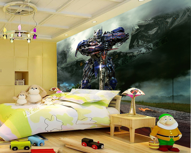 Transformers Wall Murals Boys Bedroom Paper Self Adhesive Wallpaper In Wallpapers From Home Improvement On Aliexpress Alibaba Group