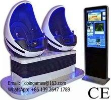Hot Sale Amusement Park Equipment Interactive Virtual Reality 2 Seats 9D Vr Simulator Egg Cinema Movie Game Machine