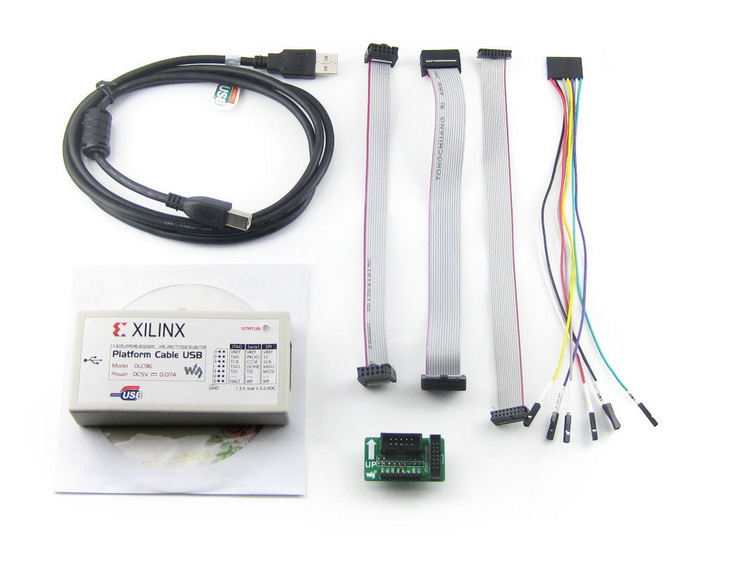Modules Xilinx Platform Cable USB FPGA/CPLD JTAG DLC9G In-circuit Configuration and Pogramming XILINX Programmer & Debugger xilinx fpga development board xilinx spartan 3e xc3s500e evaluation kit dvk600 xc3s500e core kit open3s500e standard