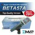 Бесплатная Доставка! 2 шт. Высокое Качество Версия BETA57 Профессиональной BETA57A Караоке Ручной Динамический Проводной Микрофон Beta 57A 57 Mic