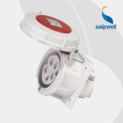 IP67 5 P 32A 85*75mm International standardowy  montowany w panelu prosty nóż/wodoodporne  ukryte gniazdo przemysłowe (SP 240) w Złącza od Lampy i oświetlenie na
