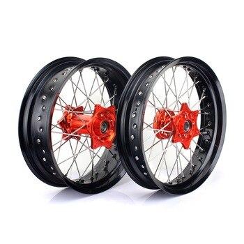 BIKINGBOY 17*3,5 17*5,0 колесо для супермото диски концентраторы для KTM EXC-F450 03-15 EXC-F500 10-15 EXC-F 250 07-15 EXC-F 350 12-15 14 13 12