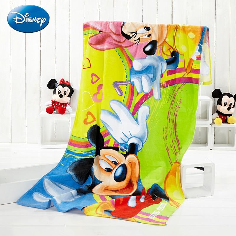 Disney Cartoon Animation Towels 150*75 Cm Licensed Product Mickey Series New Fashion Cartoon Children Disney Printed Beach Towel все цены