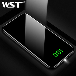 WST Slim LED Real Power Bank 10000mAh 10000 PoverBank Battery Pack Mobile External Battery For Xiaomi Samsung Phone Powerbank