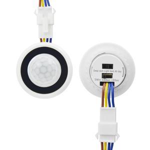 110V-220V Time Delay Adjustable LED Night light Sensor Switch PIR Infrared Human Body Induction Motion Sensor Detector Switch(China)