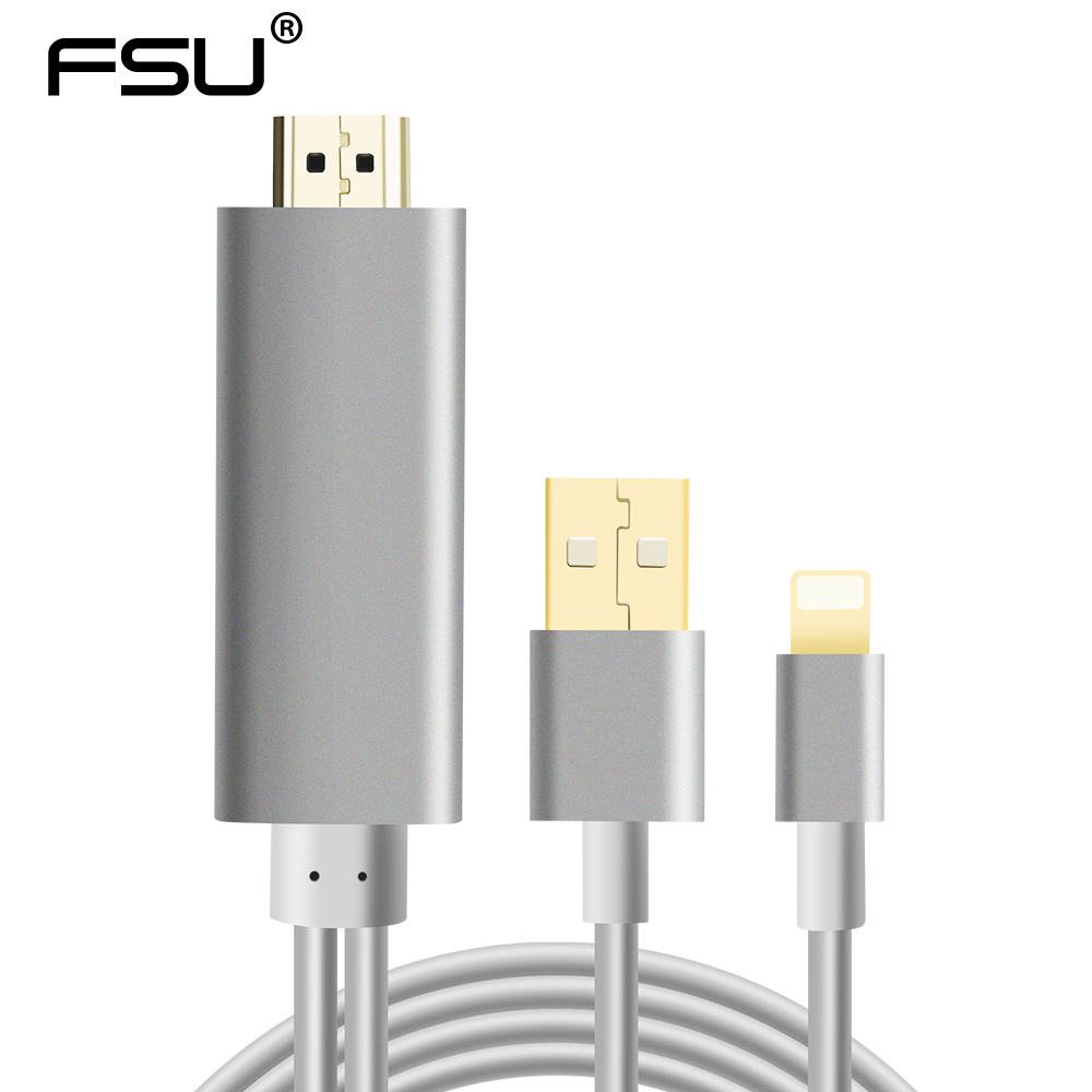 2M Lightning to HDMI Cable 1.4V 1080P 3D for IPad Mini Air Apple 5 5S 6 6S 7 8 Plus to HD LCD TV Computer Cable Display цена
