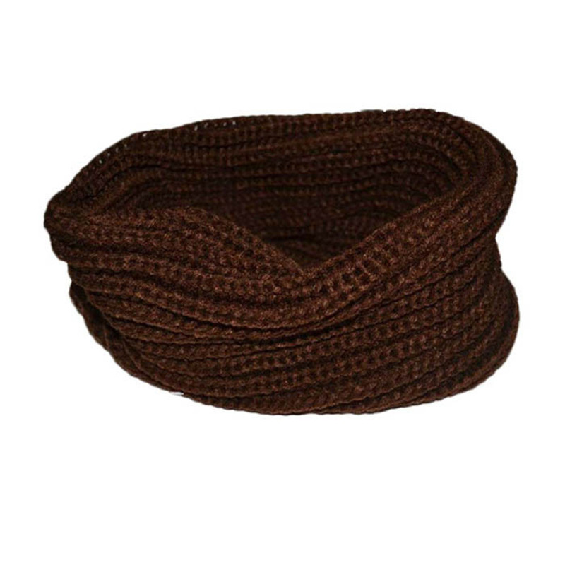 New Fashion Women Scarf Warm Knittec Neck Circle High Quality Cowl Snood Multi-purpose Wool  Lady Girls Women's Scarf Five Color