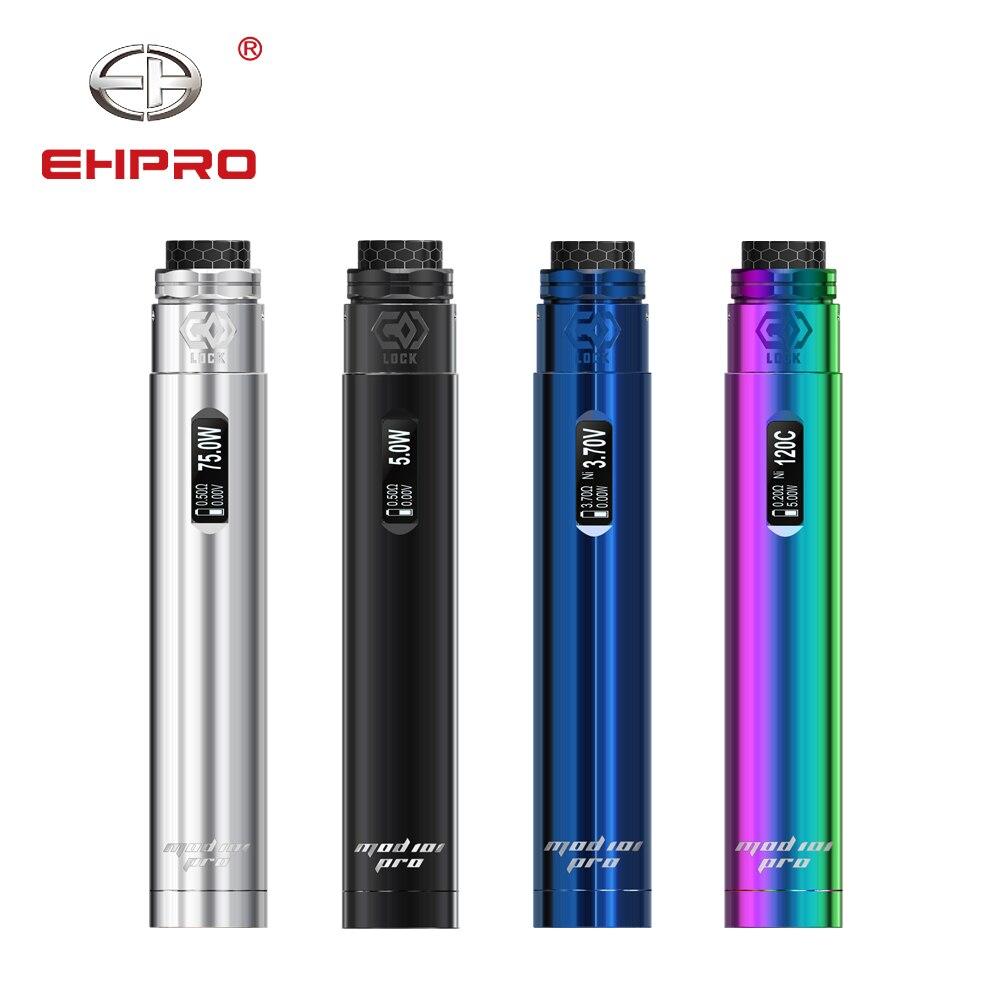 Original Ehpro Mod 101 Pro 75 W Mod mécanique avec serrure RDA atomiseur externe 20700 21700 18650 batterie Cigarette électronique Mod