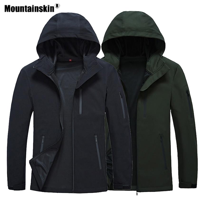 Mountainskin Spring Men's Hiking Softshell Jackets Outdoor Sports Camping Trekking Climbing Windproof Male Hooded Coats VA423