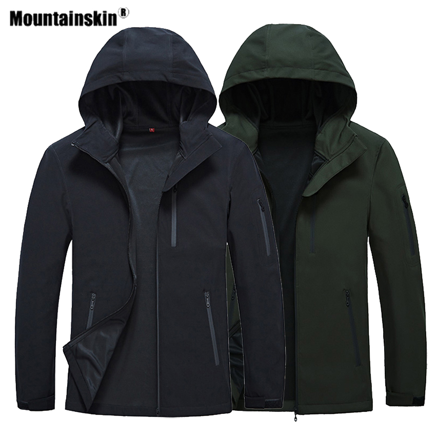 Mountainskin Spring Men's Hiking Softshell Jackets Outdoor Sports Camping Trekking Climbing Windproof Male Hooded Coats VA423