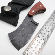 EDC Fixed Blade Tactical Knife 440C Blade Wood Outdoor Camping Survival Hunting Knives Pocket Knifes Combat Diving Utolity Tools edc handmade tools 59 hrc fixed blade knife hunting army blade n690 handle aluminum tc4 outdoor camping survival pocket knives