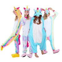 2018 New Onesie Wholesale Animal Stitch Star Unicorn Kigurumi Adult Unisex Women Pajamas Hooded Sleepwear Adult