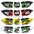Custom Number Plate Backgrounds Graphics Sticker & Decals For Kawasaki KX250F KXF250 2013 2014