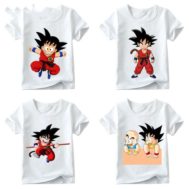 Little Goku Anime Cartoon Unisex Kids Tee Youth T-Shirt Cotton Boy Girl shirt