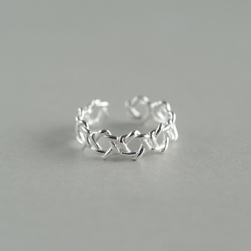 975c15d1b47f 925 ANILLO de plata esterlina moda mágica hexagrama anillo regalos de la  manera del estilo fresco de la joyería para las mujeres en Anillos de  Joyería y ...