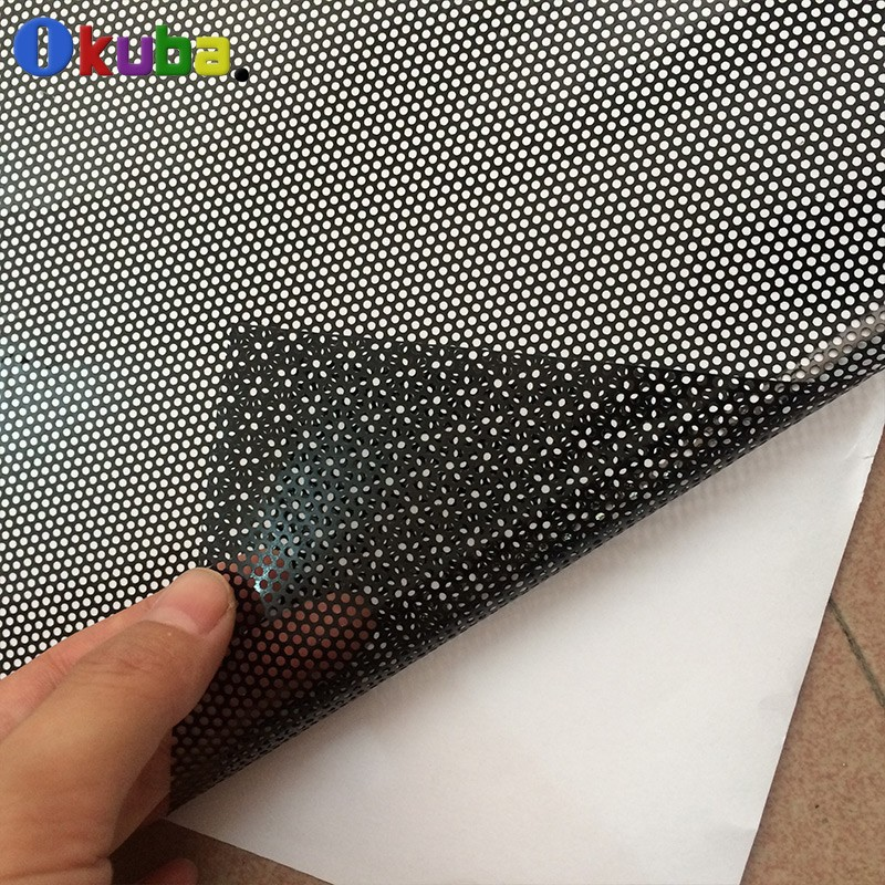 High-Quality-One-Way-Vision-Car-Tint-Film-Perforated-Mesh-Film-Black-Fly-Eye-Tint-FedEx-Free-shipping-4