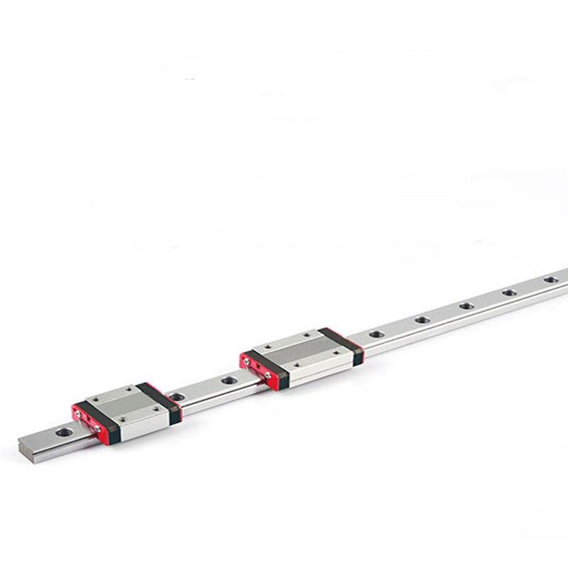 Acier inoxydable MGN12 Linéaire rail 500mm long avec 2 long corps bloc de transport MGN12H