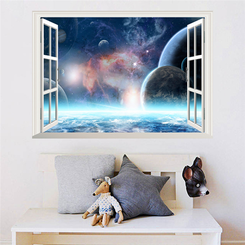 Good Deal Creative Galaxy Outer Space Planet Wall Stickers For
