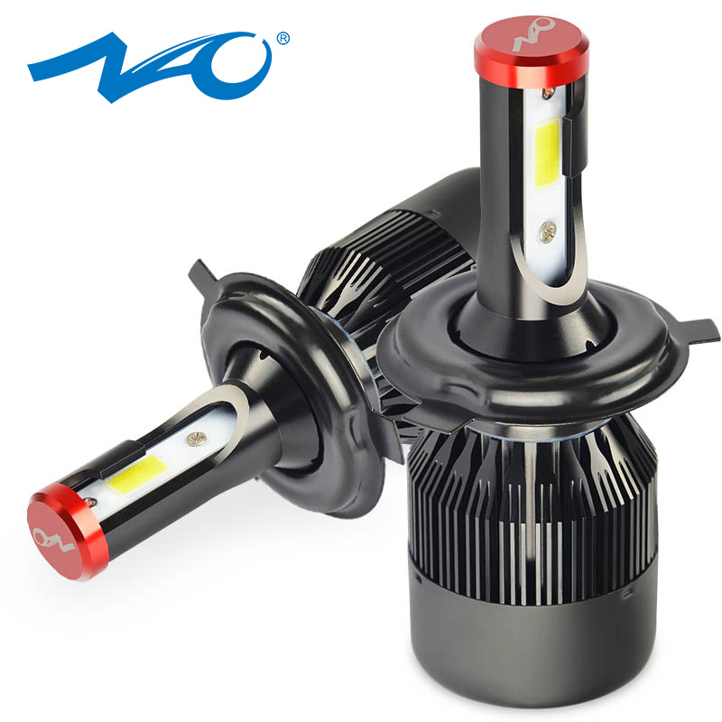 NAO Car-Lights White All-In Led-Bulb Automobiles 6000K Led H4 8000LM 24V High-Low HB2