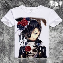 Black Butler Kuroshitsuji Anime Casual Fashion Short Sleeves Unisex T-shirt