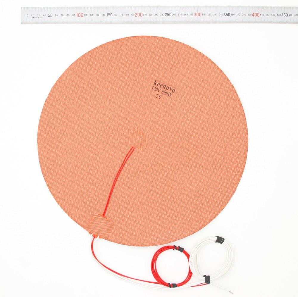 Dia 350mm 800 W rond circulaire Silicone chauffage Delta Style 3D imprimante lit chauffant coussin chauffant | KEENOVO