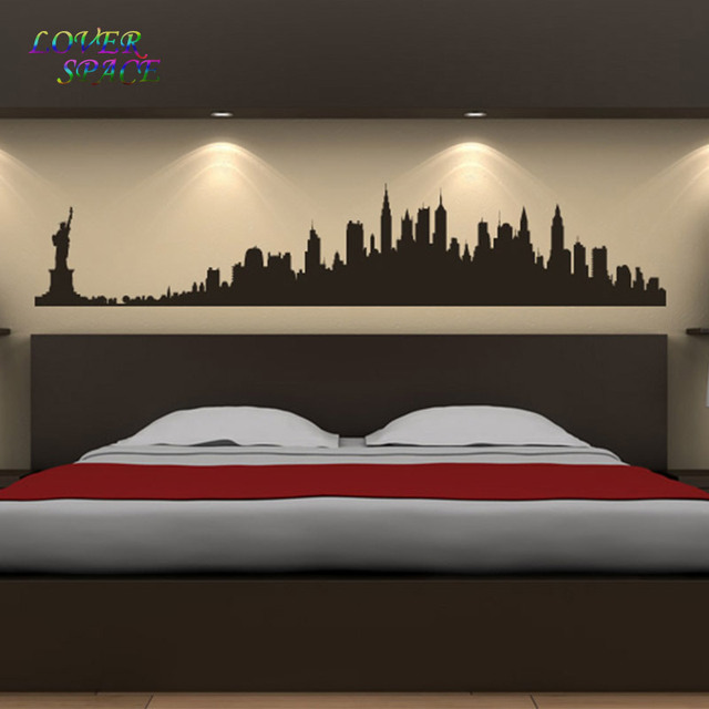 New York City Skyline Wall Stickers America USA Places Wall Art Decal  Transfers Custom Made Color Part 61