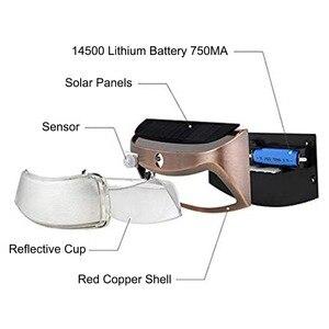 Image 5 - Solar Power Light 8 LED Outdoor Solar Smiling Wall Lights Copper Black Wireless Light Night Lamps for Stair Garden Doorway