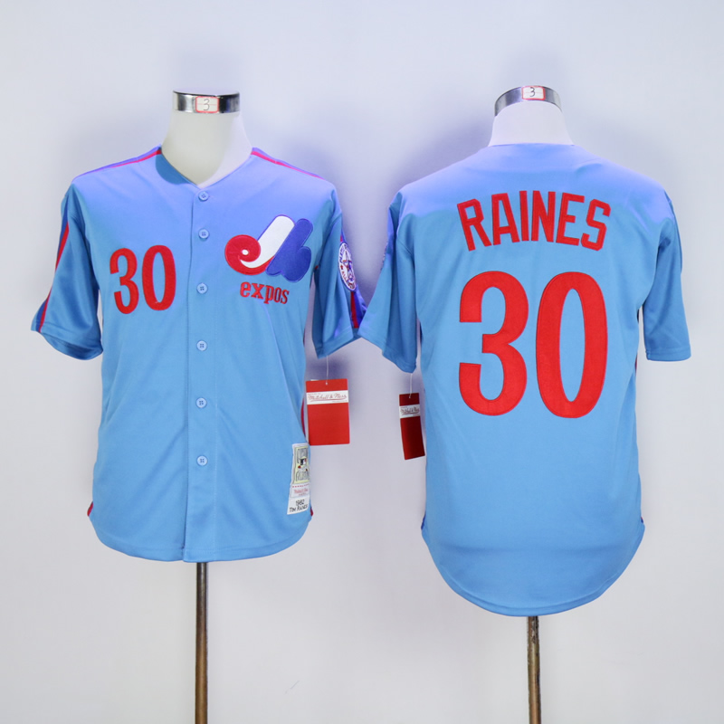 Tim Raines Jersey 30 Montreal Expos Baseball Jersey All stitched Retro Style More Color youth baseball jersey color white maroon size medium