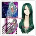 New Arrival 60cm Long Kido Tsubomi Dark Green Cosplay Costume Wig ML196