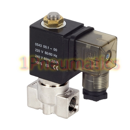Free Shipping 1/4'' Ports 5231 Series High Pressure & High Temperature Water Solenoid Valve 30Bar Model 1PC-5231002S