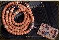 Nepal Tibetana vajra bodhi 108 pulsera del grano de moda de cinco discos de pulir de pulido cuentas Buda amuleto pulsera