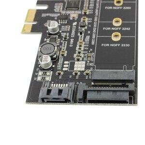 Image 5 - 듀얼 USB3.0 1 포트 유형 c M.2 PCIe 어댑터 M2 SSD SATA B 키 PCI e 3.0 컨트롤러 변환기 카드 NGFF 2280 2260 2242 2230
