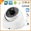 Câmera ip poe 720 p/960 p/1080 p (sony imx322) 25fps anti vandalismo câmera dome ip ao ar livre indoor vandalproof onvif 2.0 48 v poe cctv